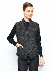 Fort Collins Women Grey & Black Waistcoat