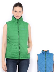 Women Green & Blue Padded Reversible Jacket Fort Collins