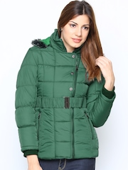 Fort Collins Women Green Jacket with Detachable Hood