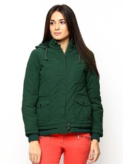 Fort Collins Women Green Padded Jacket