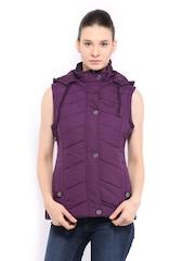 Women Purple Sleeveless Padded Jacket Fort Collins