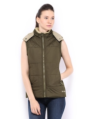 Women Olive Green Padded Jacket Fort Collins