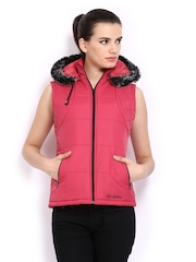Women Pink Padded Sleeveless Jacket Fort Collins