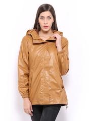 Women Brown Hooded Rain Jacket Fort Collins