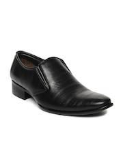 Fortune Men Black Semiformal Shoes