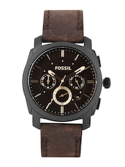 Fossil Men Brown Dial Chronograph Watch FS4656I