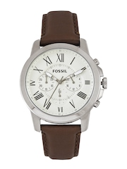 Fossil Men White Dial Chronograph Watch FS4735I