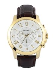 Fossil Men White Dial Chronograph Watch FS4767