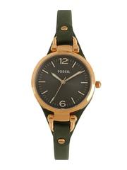 Fossil Women Gunmetal Toned Dial Watch ES3077I