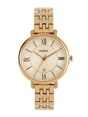 Fossil Women Rose Gold-Toned Dial Watch ES3435I