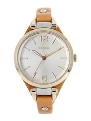 Fossil Women Silver-Toned Dial Watch ES3565I