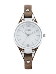 Fossil Women Silver Toned Dial Watch ES3060I