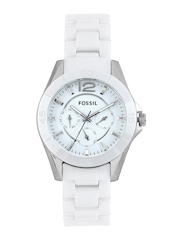 Fossil Women White Dial Watch