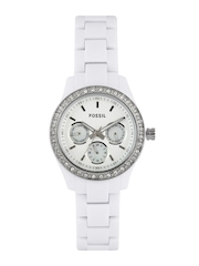 Fossil Women White Dial Watch ES1967