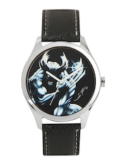 Fosters Men Black Wolverine Printed Dial Watch