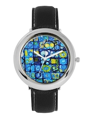Fosters Men Blue Printed Dial Watch