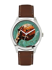 Fosters Men Green Printed Dial Watch