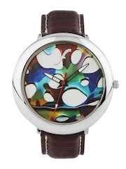 Fosters Men Multi-Coloured Printed Dial Watch