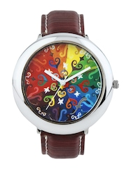 Fosters Women Multi-Coloured Printed Dial Watch