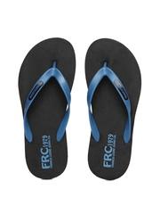Franco Leone Men Black & Blue Flip Flops