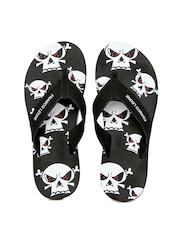 Franco Leone Men Black Flip Flops