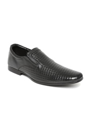 Franco Leone Men Black Leather Formal Shoes