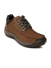 Franco Leone Road Wire Men Tan Brown Leather Casual Shoes