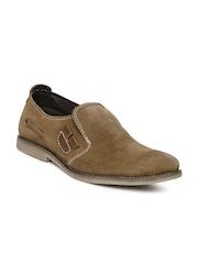 Franco Leone Men Brown Suede Casual Shoes