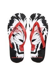 Franco Leone Men Red Flip Flops