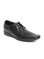 Franco Leone Men Black Leather Formal Shoes