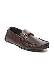 Franco Leone Men Brown Leather Casual Shoes
