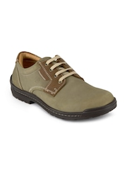 Franco Leone Men Khaki Casual Shoes