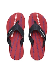 Franco Leone Men Navy & Red Flip Flops
