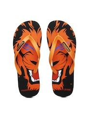 Franco Leone Men Orange Flip-Flops