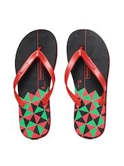Franco Leone Men Red Flip Flops
