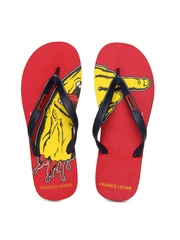 Franco Leone Navy & Red Flip Flops