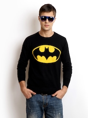 DC Comics Men Black Batman Sweater