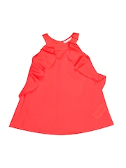 French Connection Girls Neon Pink A-line Dress