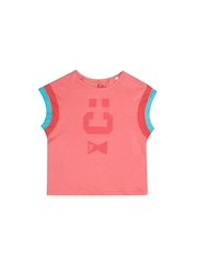 French Connection Girls Pink Printed T-shirt