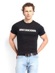 French Connection Men Black Printed T-shirt