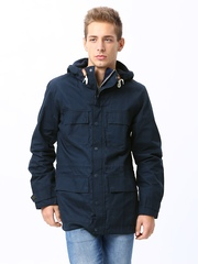 French Connection Men Navy Cotton Jacket