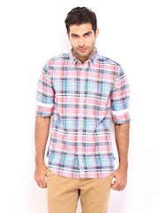 French Connection Men Multi-Coloured Checked Slim Fit Casual Shirt
