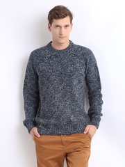 French Connection Men Navy & Grey Knit Sweater