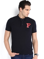 French Connection Men Navy Polo T-shirt