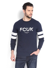 French Connection Men Navy Printed T-shirt