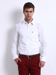 French Connection Men White Connery Smart-Casual Shirt