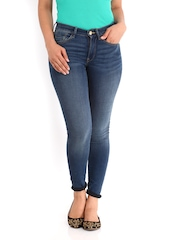 French Connection Women Blue Skin Tight Fit Jeans