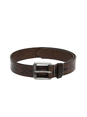 Fume Unisex Brown Leather Belt