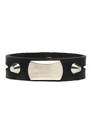 Fume Unisex Black Leather Bracelet