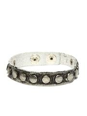 Fume Unisex Grey Leather Bracelet